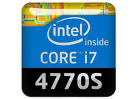 "Intel Core i7 4770S 1""x1"" Chrome Effect Domed Case Badge / Sticker Logo"