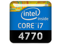 "Intel Core i7 4770 1""x1"" Chrome Effect Domed Case Badge / Sticker Logo"