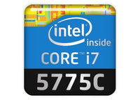 "Intel Core i7 5775C 1""x1"" Chrome Effect Domed Case Badge / Sticker Logo"
