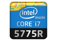 "Intel Core i7 5775R 1""x1"" Chrome Effect Domed Case Badge / Sticker Logo"