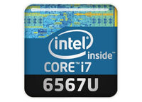 "Intel Core i7 6567U 1""x1"" Chrome Effect Domed Case Badge / Sticker Logo"
