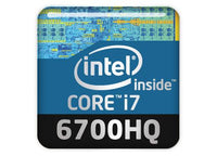 "Intel Core i7 6700HQ 1""x1"" Chrome Effect Domed Case Badge / Sticker Logo"
