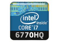 "Intel Core i7 6770HQ 1""x1"" Chrome Effect Domed Case Badge / Sticker Logo"