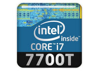 "Intel Core i7 7700T 1""x1"" Chrome Effect Domed Case Badge / Sticker Logo"
