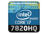 "Intel Core i7 7820HQ 1""x1"" Chrome Effect Domed Case Badge / Sticker Logo"