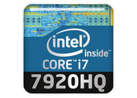 "Intel Core i7 7920HQ 1""x1"" Chrome Effect Domed Case Badge / Sticker Logo"