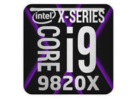 "Intel Core i9 9820X 1""x1"" Chrome Effect Domed Case Badge / Sticker Logo"