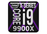 "Intel Core i9 9900X 1""x1"" Chrome Effect Domed Case Badge / Sticker Logo"
