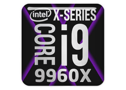 "Intel Core i9 9960X 1""x1"" Chrome Effect Domed Case Badge / Sticker Logo"