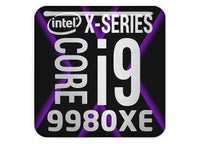 "Intel Core i9 9980XE 1""x1"" Chrome Effect Domed Case Badge / Sticker Logo"
