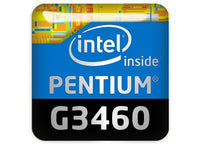 "Intel Pentium G3460 1""x1"" Chrome Effect Domed Case Badge / Sticker Logo"