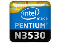 "Intel Pentium N3530 1""x1"" Chrome Effect Domed Case Badge / Sticker Logo"