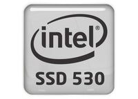 "Intel SSD 530 1""x1"" Chrome Effect Domed Case Badge / Sticker Logo"