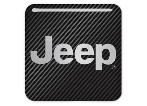 "Jeep 1""x1"" Chrome Effect Domed Case Badge / Sticker Logo"