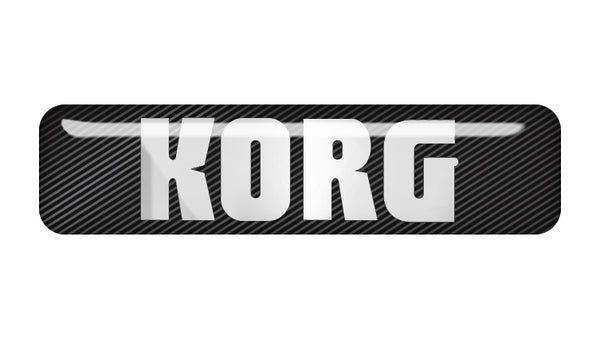 "Korg 2""x0.5"" Chrome Effect Domed Case Badge / Sticker Logo"