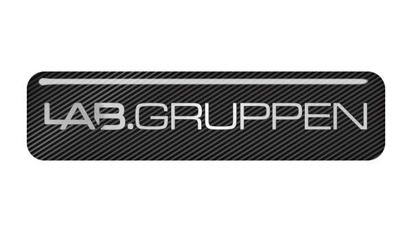 "Lab Gruppen 2""x0.5"" Chrome Effect Domed Case Badge / Sticker Logo"