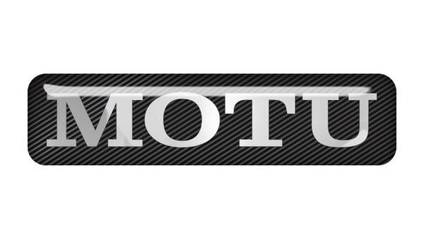 "MOTU 2""x0.5"" Chrome Effect Domed Case Badge / Sticker Logo"