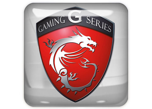 "MSI Gaming G Series 1""x1"" Chrome Effect Domed Case Badge / Sticker Logo"