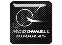 "McDonnell Douglas 1""x1"" Chrome Effect Domed Case Badge / Sticker Logo"