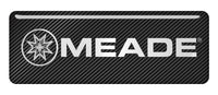 "Meade 2.75""x1"" Chrome Effect Domed Case Badge / Sticker Logo"