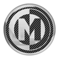 "Memphis Car Audio 1.5"" Diameter Round Chrome Effect Domed Case Badge / Sticker Logo"