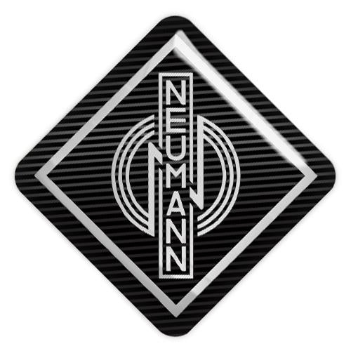 "Neumann 1""x1"" Chrome Effect Domed Case Badge / Sticker Logo"