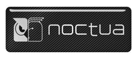 "Noctua 2.75""x1"" Chrome Effect Domed Case Badge / Sticker Logo"