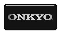 "Onkyo 2""x1"" Chrome Effect Domed Case Badge / Sticker Logo"