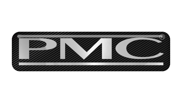 "PMC Speakers 2""x0.5"" Chrome Effect Domed Case Badge / Sticker Logo"