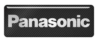 "Panasonic 2.75""x1"" Chrome Effect Domed Case Badge / Sticker Logo"