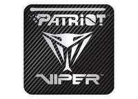 "Patriot Viper 1""x1"" Chrome Effect Domed Case Badge / Sticker Logo"
