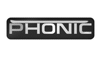 "Phonic 2""x0.5"" Chrome Effect Domed Case Badge / Sticker Logo"