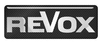"Revox 2.75""x1"" Chrome Effect Domed Case Badge / Sticker Logo"