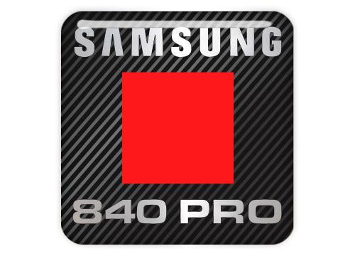 "Samsung 840 PRO SSD 1""x1"" Chrome Effect Domed Case Badge / Sticker Logo"