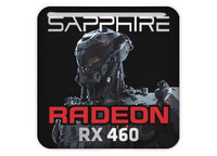 "Sapphire Radeon RX 460 1""x1"" Chrome Effect Domed Case Badge / Sticker Logo"