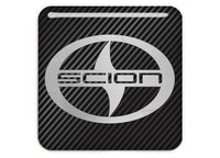 "Scion 1""x1"" Chrome Effect Domed Case Badge / Sticker Logo"