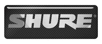 "Shure 2.75""x1"" Chrome Effect Domed Case Badge / Sticker Logo"