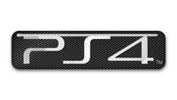 "Sony PlayStation 4 (PS4) 2""x0.5"" Chrome Effect Domed Case Badge / Sticker Logo"