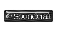"Soundcraft 2""x0.5"" Chrome Effect Domed Case Badge / Sticker Logo"