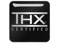 "THX Certified 1""x1"" Chrome Effect Domed Case Badge / Sticker Logo"
