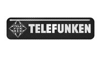 "Telefunken 2""x0.5"" Chrome Effect Domed Case Badge / Sticker Logo"