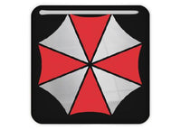 "Umbrella Corporation Resident Evil 1""x1"" Chrome Effect Domed Case Badge / Sticker Logo"