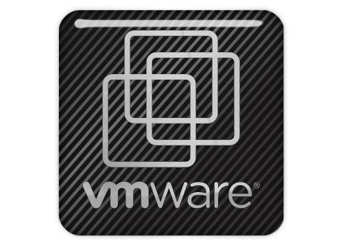 "VMWare 1""x1"" Chrome Effect Domed Case Badge / Sticker Logo"