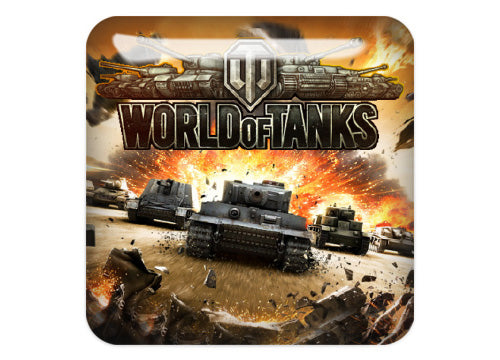 "World Of Tanks Design #5 1""x1"" Chrome Effect Domed Case Badge / Sticker Logo"
