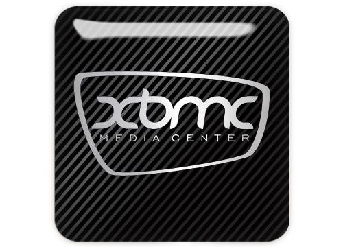"XBMC 1""x1"" Chrome Effect Domed Case Badge / Sticker Logo"