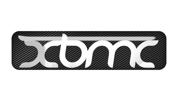 "XBMC 2""x0.5"" Chrome Effect Domed Case Badge / Sticker Logo"
