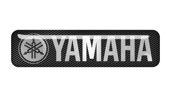 "Yamaha 2""x0.5"" Chrome Effect Domed Case Badge / Sticker Logo"