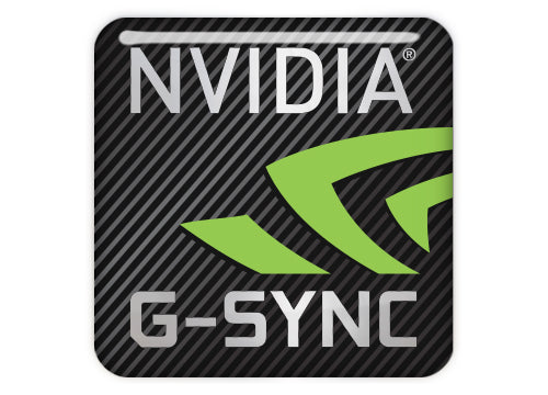 "nVidia G-Sync 1""x1"" Chrome Effect Domed Case Badge / Sticker Logo"