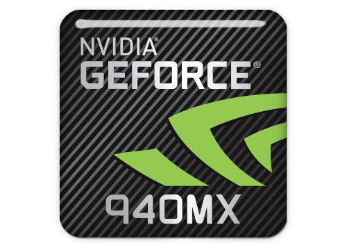"nVidia GeForce 940MX 1""x1"" Chrome Effect Domed Case Badge / Sticker Logo"