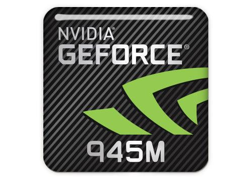 "nVidia GeForce 945M 1""x1"" Chrome Effect Domed Case Badge / Sticker Logo"